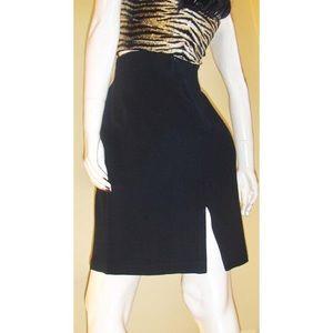 VTG 80s Vampy Vixen High Waisted Pencil Skirt